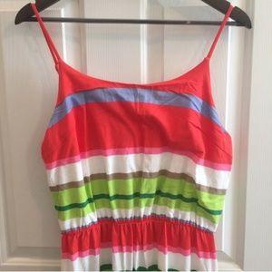 Gap Multicolored Stripe Maxi Dress